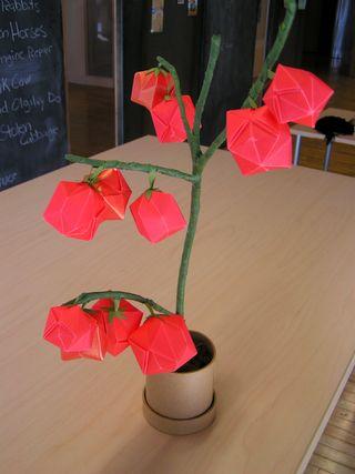 🍅 Origami Tomato 🍅 - Super simple (Jinipapa) - YouTube | 427x320